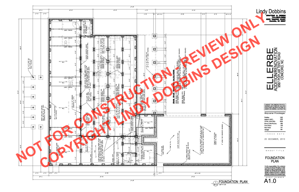 residential house foundation plan - house interior